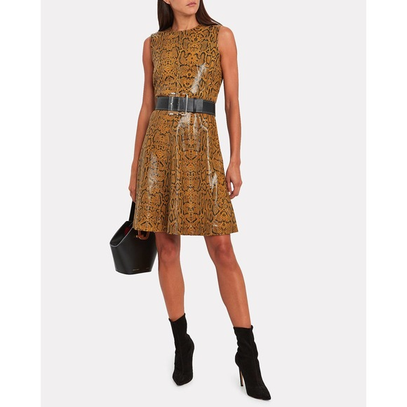 New NOTES Du Nord Mercy Leather Dress Large Snake